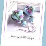 Turquoise Lampwork Earring..